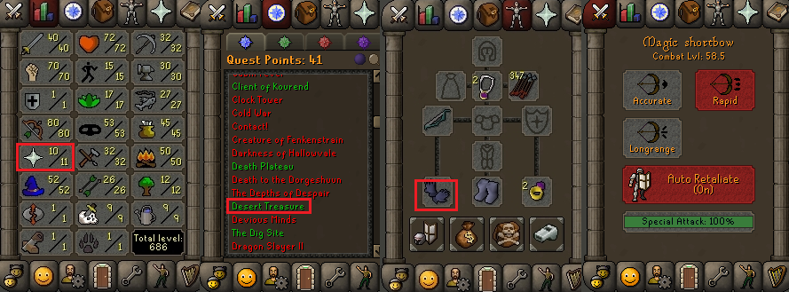OSRS account special pure combat level 58 ID#20190305CKJ58A