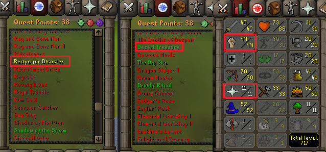 OSRS account special pure combat level 68 ID#20190210TD68A