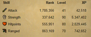 OSRS account combat level 62 ID#20190222TD62