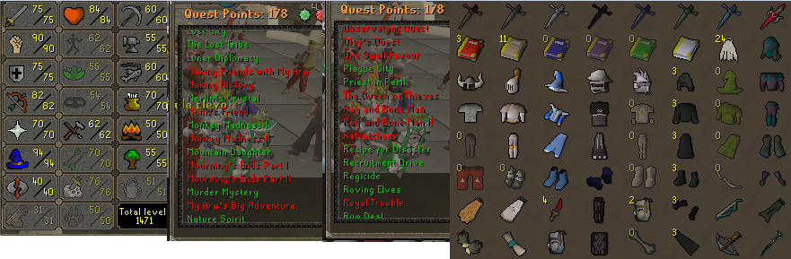 OSRS account combat level 102 ID# 20190313LW102