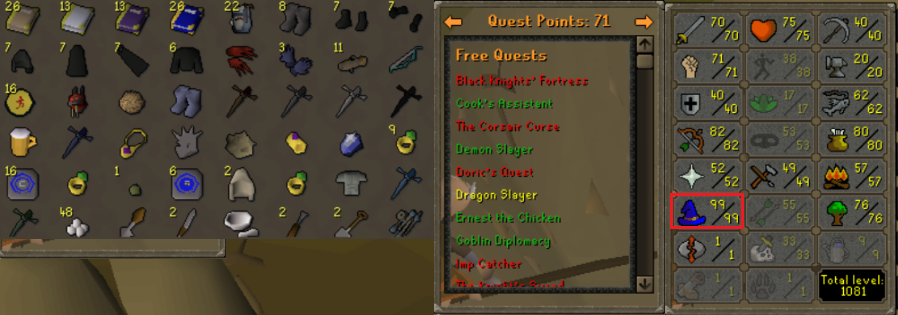 OSRS account combat level 83 ID# 20190114LW83 - RuneScape