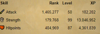 osrs account combat level 70 ID#20190524TD70