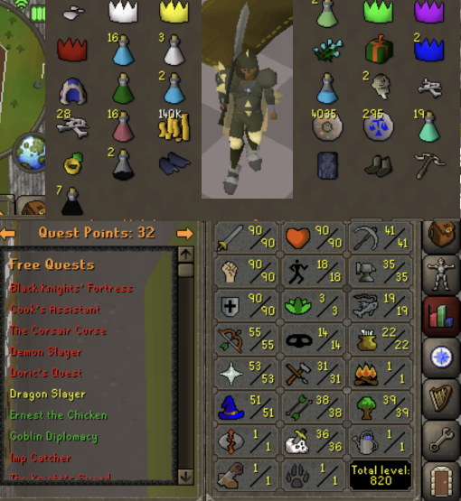 OSRS account combat level 110 ID#20181230TDSB110 - RuneScape