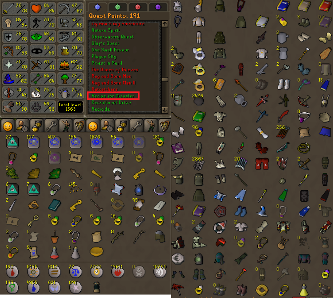 OSRS account combat level 101 ID#20200207LW101