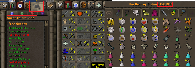 OSRS ironman account combat level 78 ID# 20190321LW78