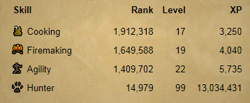 OSRS account combat level 3 ID#20181108TD3A