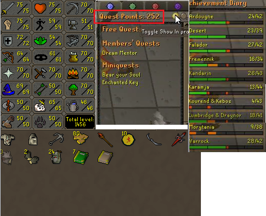 OSRS account combat level 94 ID# 20190524LW94