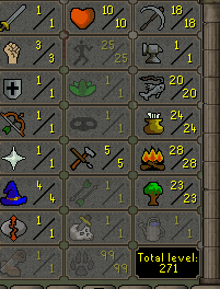 OSRS account combat level 4 ID# 20190226TD4