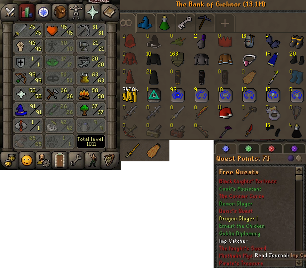 OSRS account combat level 86 ID#20210312LW86
