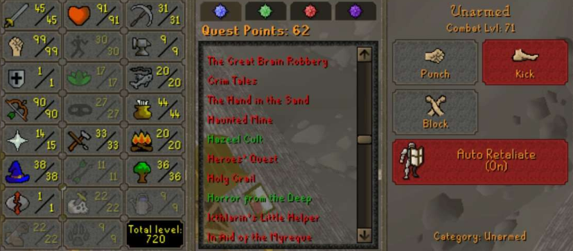 OSRS account combat level 71 ID#20210103TD71A