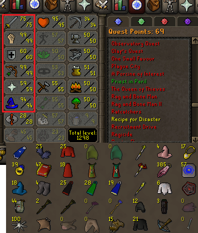 OSRS account combat level 102 ID#20201027SB102
