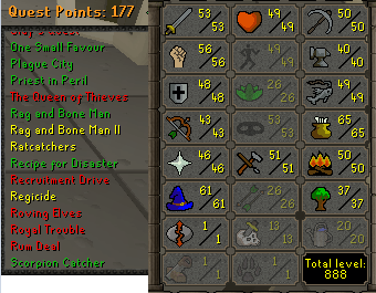 OSRS account Combat Level 65 ID#20190306TD65B