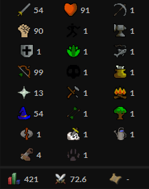 OSRS account combat level 72 ID#20190525SB72