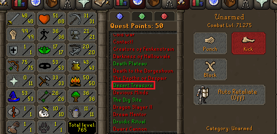 OSRS account special pure combat level 71 ID#20201111MM71B