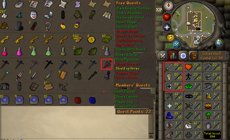 OSRS account combat Level 98 ID#20180413SB98 - RuneScape