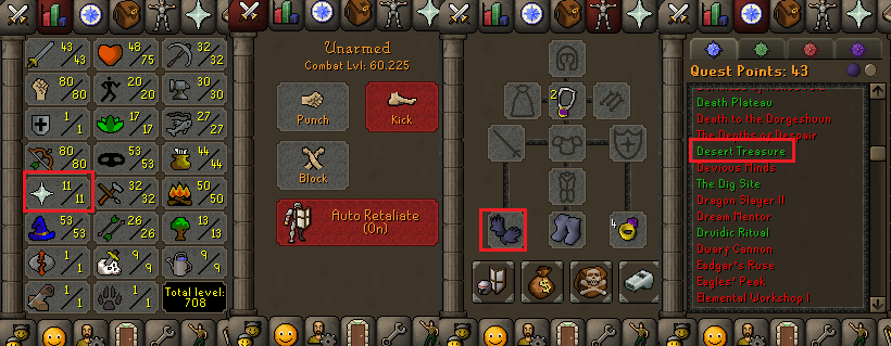 OSRS account special pure combat level 60 ID#20190501CKJ60
