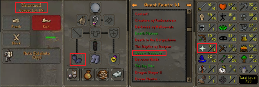 OSRS account special pure combat level 69 ID#20190117TD69