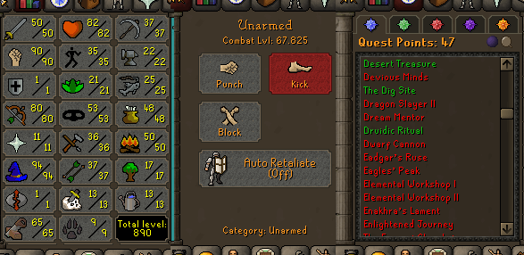 OSRS account special pure combat level 67 ID#20210605SB67