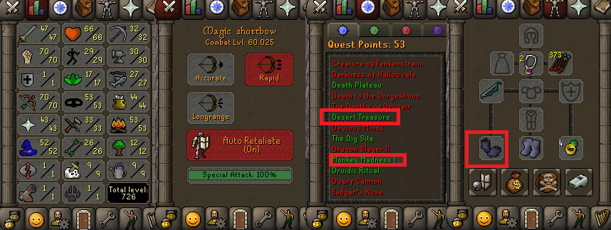 OSRS account special pure combat level 60 ID# 20190227CKJ60