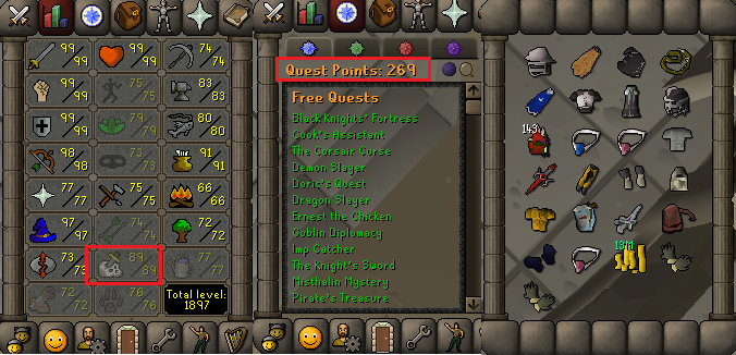 OSRS account combat level 123 ID#20190805LW123