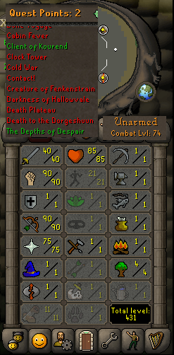 OSRS account combat level 74 ID#20180511TD74