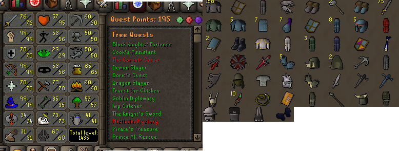 OSRS account combat level 107 ID#20190209LWSB107 - RuneScape