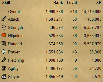 OSRS account combat level 72 ID# 20190607TD72A