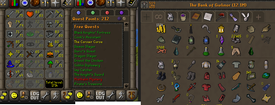 OSRS account combat level 97 ID#20201001LW97