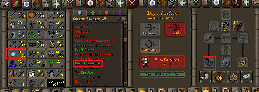 OSRS account special pure combat level 54 ID#20190529CKJ54