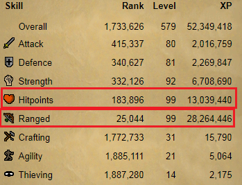 OSRS account combat level 102 ID#20190906TD102