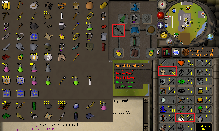 OSRS obby mauler account combat level 49 ID#20191011CKJ49
