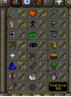 OSRS account combat level 65 ID#20190708SB65