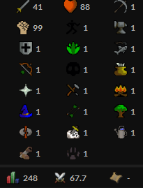 OSRS account combat level 67 ID#20190508SB67