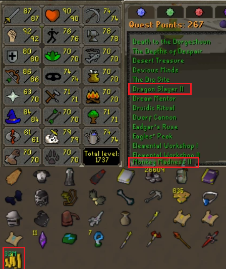 OSRS account combat level 109 ID#20201022LW109