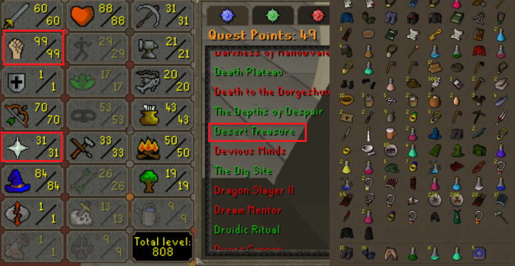 OSRS special pure account combat level 77 ID#20200202SB77