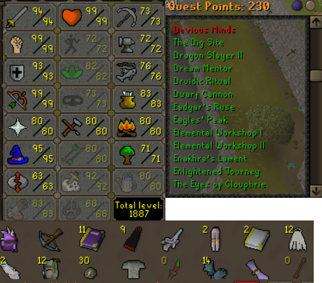 OSRS account combat level 120 ID#20190810LW120