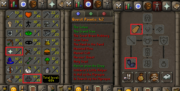 OSRS account combat level 56 ID#20190506SB56