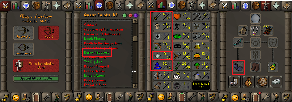 OSRS account special pure combat level 54 ID#20181122CKJ54A