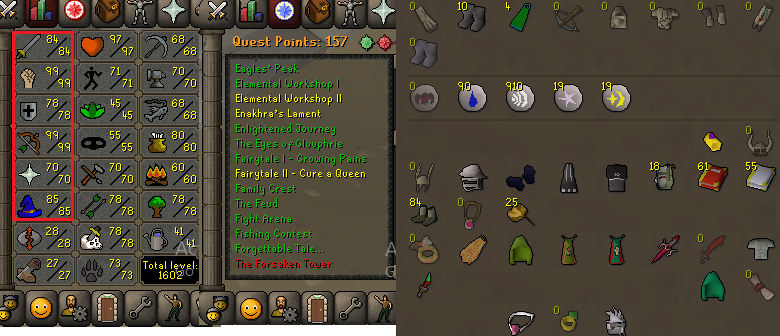 OSRS account combat level 111 ID#20190720LW111