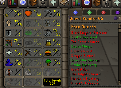 OSRS account special pure combat level 74 ID#20210129MM74A