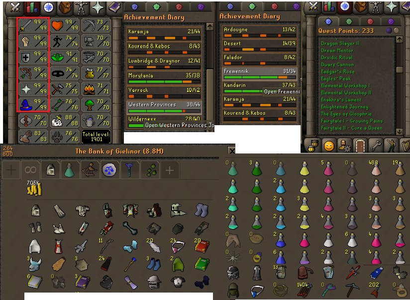 OSRS account combat level 126 ID#20190801LW126