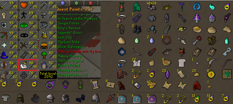 OSRS account combat level 124 ID#20190702LW124