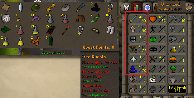 OSRS account Combat Level 63 ID#20180713SB63 - RuneScape