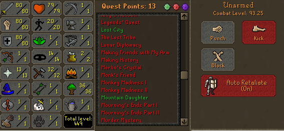 OSRS account combat level 93 ID#ACCOUNT808080 best sale