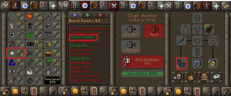 OSRS account special pure combat level 54 ID#20190308CKJ54